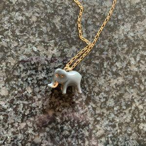 JCrew porcelain elephant necklace